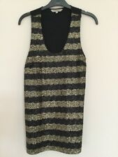 Women's Marks & Spencer Limited Edition black & gold evening top size 10