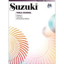 Suzuki Viola School - Volume 4 - International Edition - Book and Cd