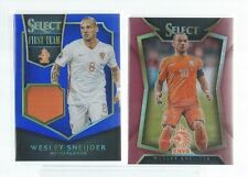 2015 Panini Select Soccer Wesley Sneijder Patch Two Card Lot Patch /99 Red /199
