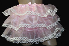 "Adult Sissy - PINK Organza Rumba Ruffles - PANTIES  ""color choice Custom Made"""