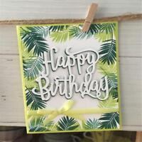 Happy Birthday Letter Cutting Dies Stencil Embossing Handmade DIY Craft DD