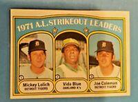 1972 Topps Set Break # 96 AL Strikeout Leaders NR-MINT