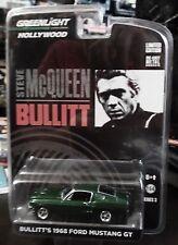 GREENLIGHT 68 1968 FORD MUSTANG GT BULLITT AUTH STEVE MCQUEEN COLLECTIBLE CAR