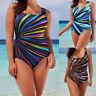 Women Swimming Costume Padded Swimsuit Monokini Swimwear Push Up Bikini Sets UK