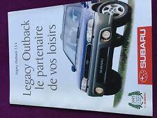Catalogue brochure Katalog Prospekt SUBARU LEGACY OUTBACK Année 1996 6 pages