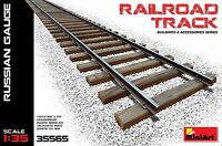 Miniart 35565 - 1/35 Railroad Track. Russian Gauge Plastic Model Kit 714 mm