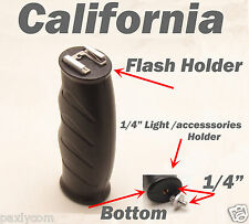"Flash light Handle Hand Holder Grip Camera Camcorder LED  w 1/4""  to 1/4"" Screws"