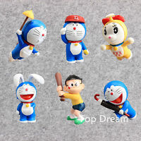 6pcs/set Doraemon PVC Action Figure Collectible Kids Model Doll Toys Gifts