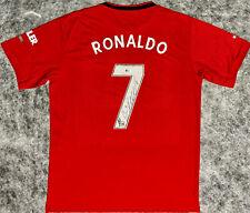 Cristiano Ronaldo Signed Manchester United Jersey BAS Beckett Witnessed ManU
