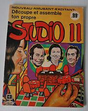 RADIO CANADA STUDIO 11 Activity Book 1970s Quebec Television