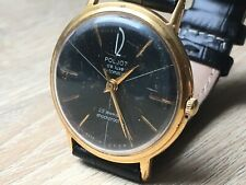 Vintage USSR Poljot de Luxe Automatic wristwatch 29 jewels AU20 black dial