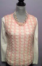 Vintage Mode Makers Ben Goodman-Nethe Pink & Ivory Acrylic Sweater Vest sz M