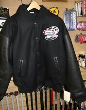KRAFT RACING JACKET-MEDIUM -HEAVY WEIGHT-GENUINE LEATHER SLEEVES