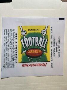 1968 Scanlen's Football VFL Cards Green Gum Wax Wrapper Print