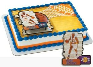 NBA Cake Toppers Los Angeles Lakers Kobe Bryant Cake Topper Basketball