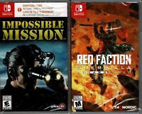 Impossible Mission & Red Faction Guerrilla Remarstered Switch Both New
