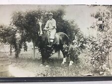 Rppc Teenage Boy In A Pikeville Pa Baseball Uniform On A Horse