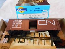 HO TRAIN ATHEARN 40' STEEL RIVETED BOXCAR KIT CANADIAN NATIONAL CN MINT!
