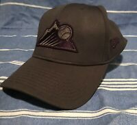 Colorado Rockies New Era Baseball Hat Fitted Cap M/L 39thirty Gray Charcoal
