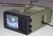 TMK TOYOMENKA PORTABLE VINTAGE TELEVISION AM FM RADIO BLACK & WHITE TV 1983