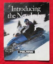 Polaris Snowmobiles Sales Brochure Introducing the New Indys 1994  bau7