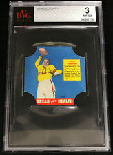 """1950 """"Bread for Health"""" bread-end label Otto Graham Rookie BVG 3 High Grade!"""