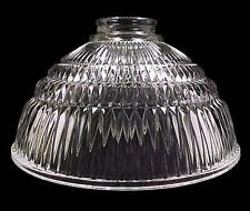 """Holophane Style Industrial Pendant Light Shade 2 1/4"""" Ribbed Lancaster Glass"""