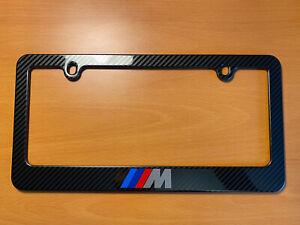 BMW M METAL Carbon Fiber look License Plate Frame