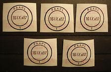 "Südafrika RSA:5 FRAMA labels ATM, MN 4,first day cancellation ""PAARL 16 IX 87"""