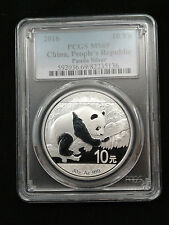 2016 1oz .999 Fine Silver Chinese Panda Silver Coin PCGS MS69