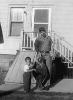 Man And A Young Boy Stand Holding Flounder In Chatham 1956 OLD FISHING PHOTO