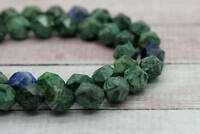 Azurite, Natural Azurite Faceted Round Ball Sphere Gemstone Beads Loose Beads