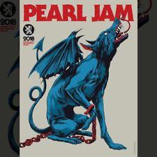 "Pearl Jam Poster - Werchter 2018 - ""Kludde"" (Shouting Monster) by Ken Taylor"