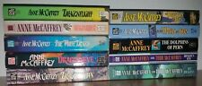 NICE LOT OF 10 DRAGONRIDERS OF PERN NOVELS by ANNE MCCAFFREY ~ WOW!