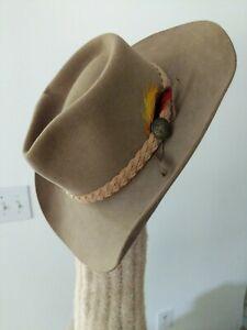 Akubra hat. Size 56. Made in Australia. Pure Fur Pelt.