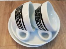 More details for pizza express genuine in-store espresso coffee cups & saucers. original