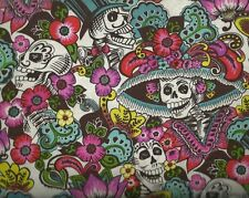 Dia de la Catrina Folklorico Alexander Henry skull fabric