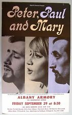 PETER, PAUL AND MARY Concert Poster, Albany, NY, 1967