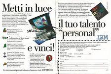 X1656 Personal Computer IBM - Pubblicità del 1994 - Vintage advertising