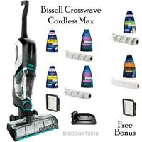 BISSELL CROSSWAVE MAX CORDLESS - MULTI SURFACE WET DRY VAC - NEW WITH FREE BONUS