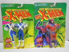 1991 Just Toys X-Men Bend Ems Bendable Figures Cyclops & Magneto