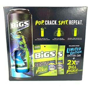 Bigs Dill Pickle Sunflower Seeds With Spitter Can Limited Edition Pack Box Set