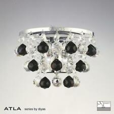 Atla Wall Lamp Switched 2 Light Polished Chrome/Crystal/Supplied With 9 Addition
