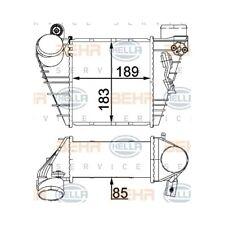 1 Ladeluftkühler HELLA 8ML 376 700-704 passend für AUDI SEAT SKODA VW