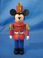 "Mickey Mouse as Nutcracker 4"" Plastic Christmas Ornament Disney Hallmark 2008"