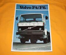Volvo f4 f6 1981 camiones folleto Truck brochure disociada depliant Catalog prospetto