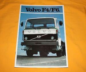 Volvo F4 F6 1981 LKW Prospekt Truck Brochure Camion Depliant Catalog Prospetto