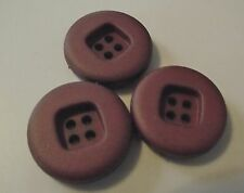4 BOUTONS  Rouge Bordeau Cerise * 22 mm 2,2 cm * 4 trous * Button sewing neuf