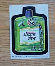 "Vintage 1980 Wacky Packs Topps Sticker Trading Card #190 ""Electric Slave"""