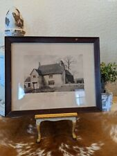 Antique AW Elson Carbon Print 1900 Framed English